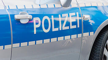 German police sign on the patrol car.