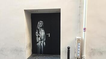Graffiti von Banksy in Paris