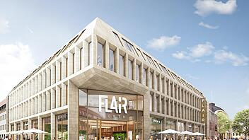 "Umbauarbeiten in Fürth: Aus dem ""City Center"" wird ""Flair"". Foto:  Chapman Taylor / P&P Gruppe"